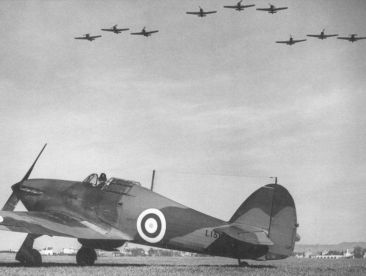 Hawker Hurricane I RAF L15xx showing early RAF marking system England 01