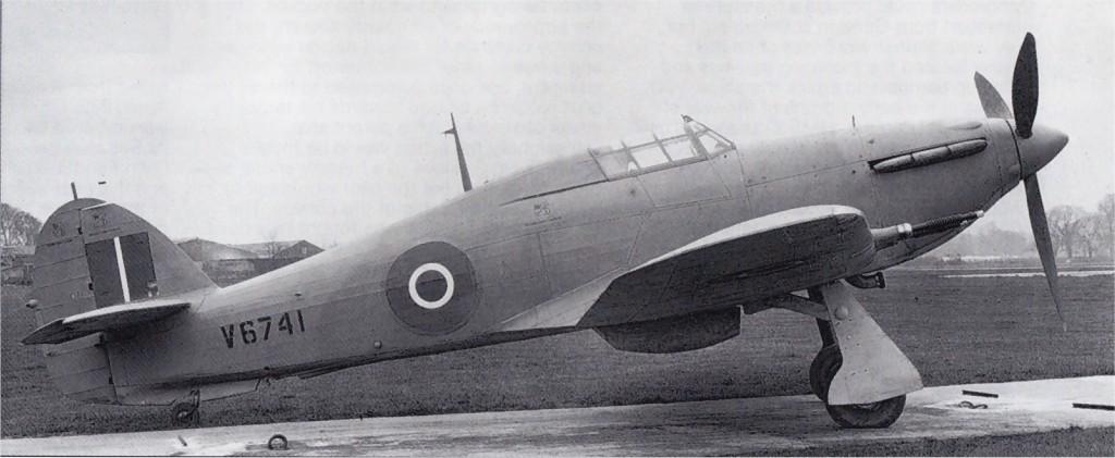 Hawker Hurricane II RAF V6741 newly delivered 01