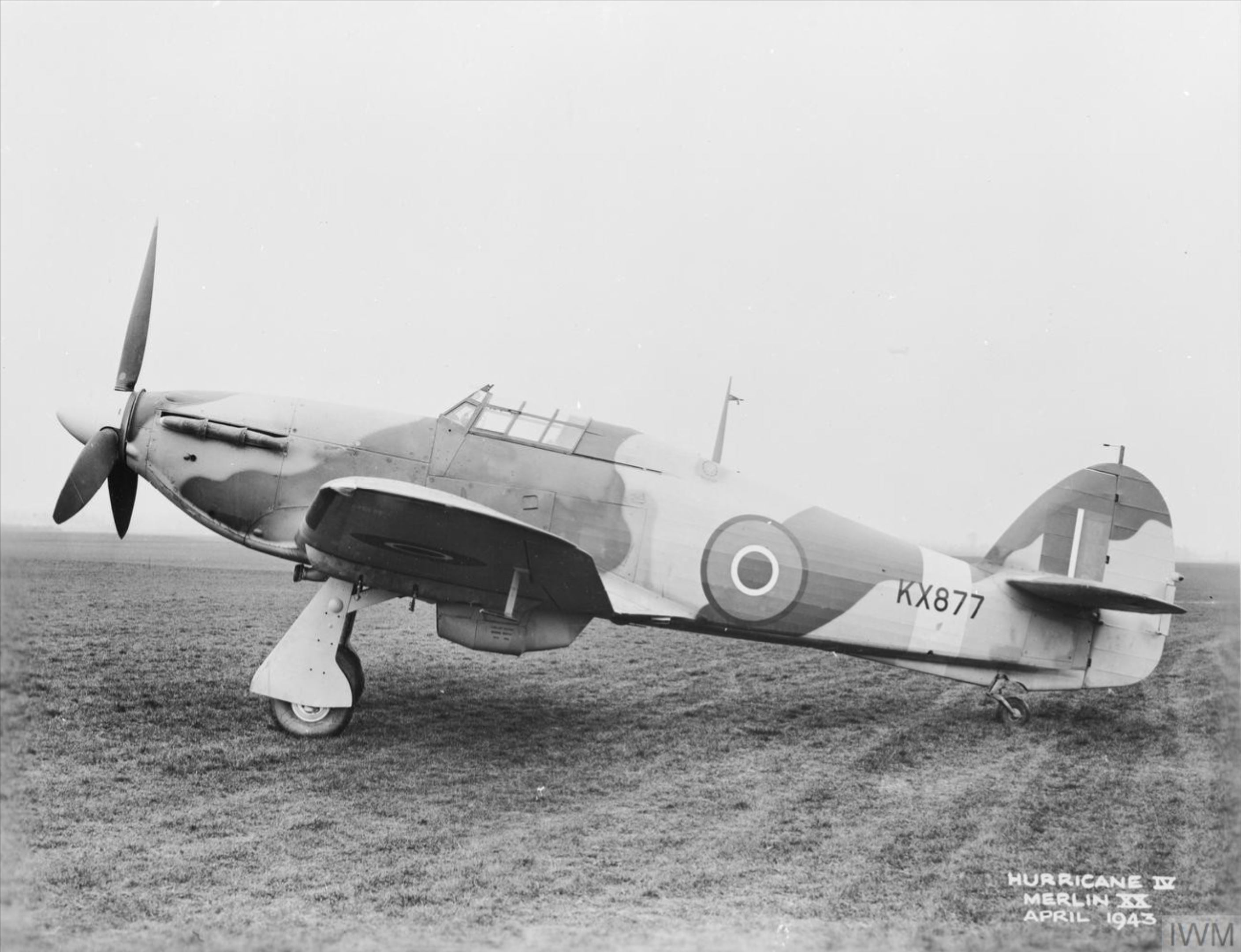 Hawker Hurricane IV RAF KX877 April 1943 IWM MH4941