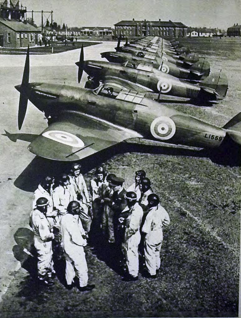 Hawker Hurricane Is lined up with L1559 England 1938 39 01