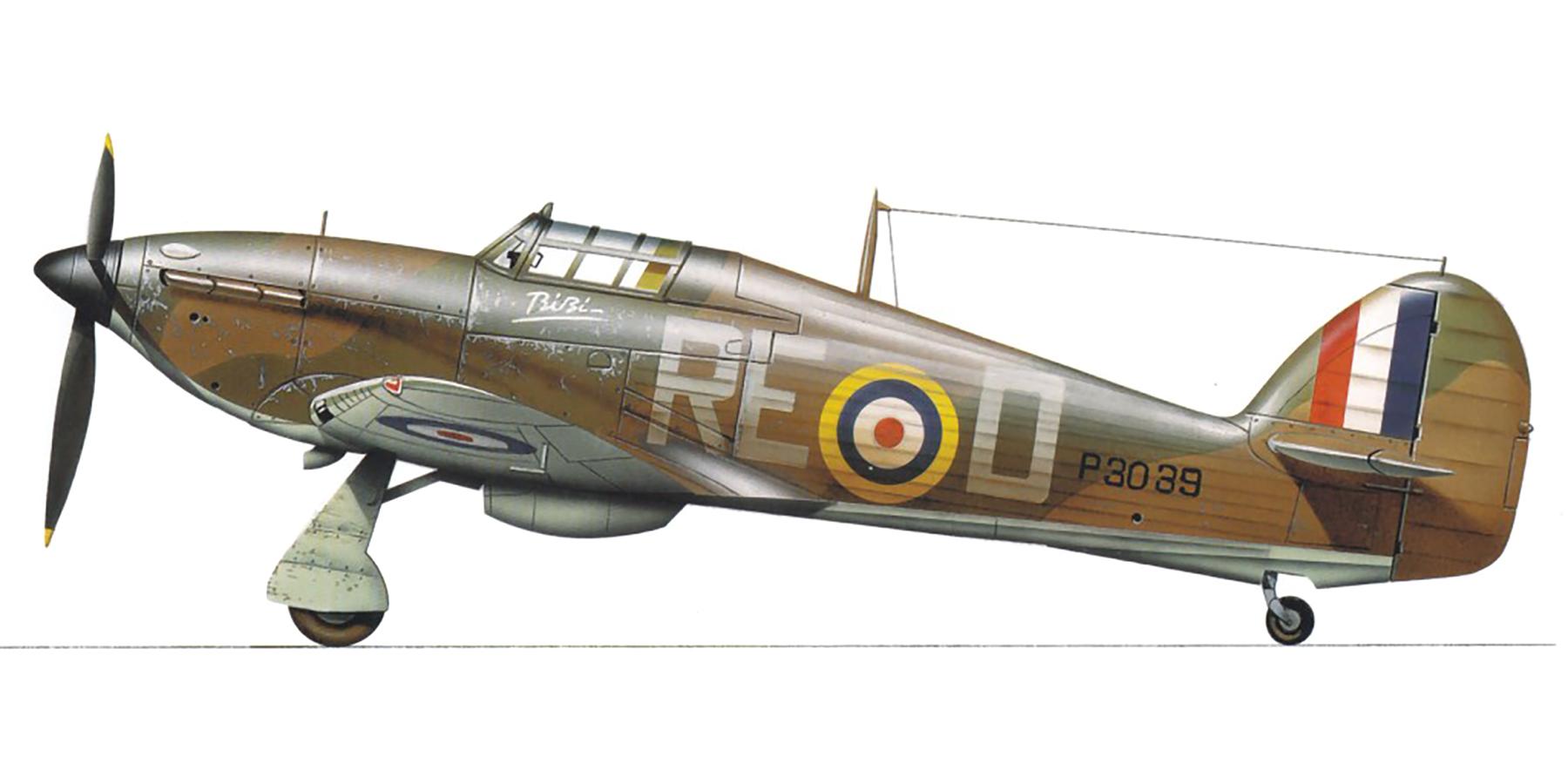 Hurricane I RAF 229Sqn RED Bibi P3039 England 1940 0A