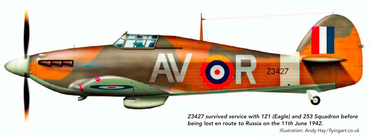 Hurricane IIb RAF 121Sqn AVR Z3427 England 1941 0A