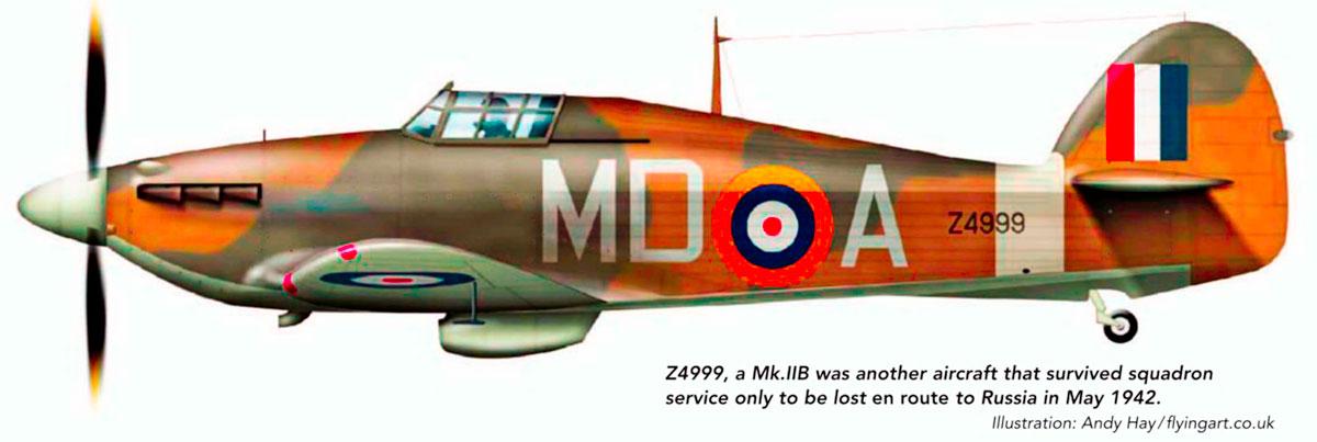 Hurricane IIb RAF 133Sqn MDA Z4999 England 1941 0A