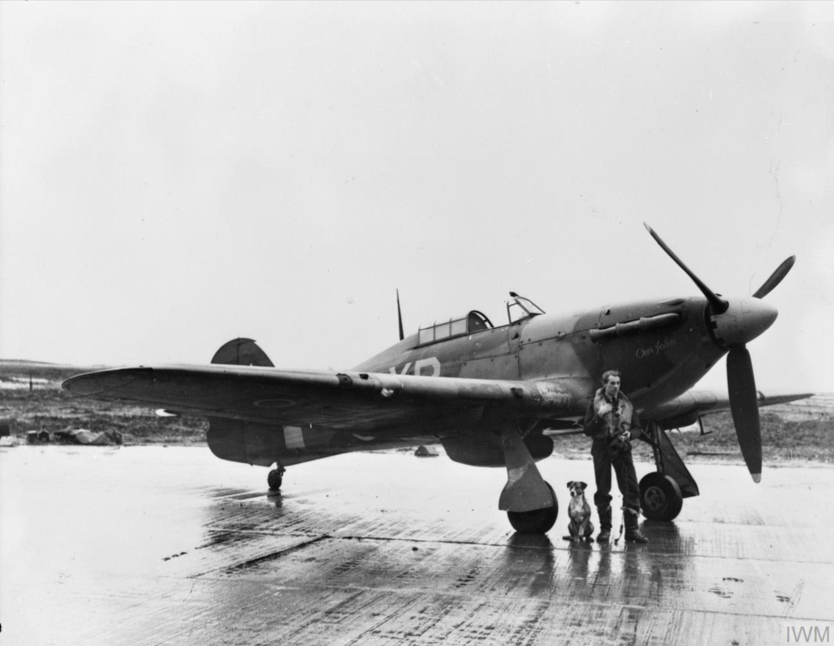 Hurricane IIb RAF 174Sqn HV894 based at Odiham Hampshire IWM CH8239
