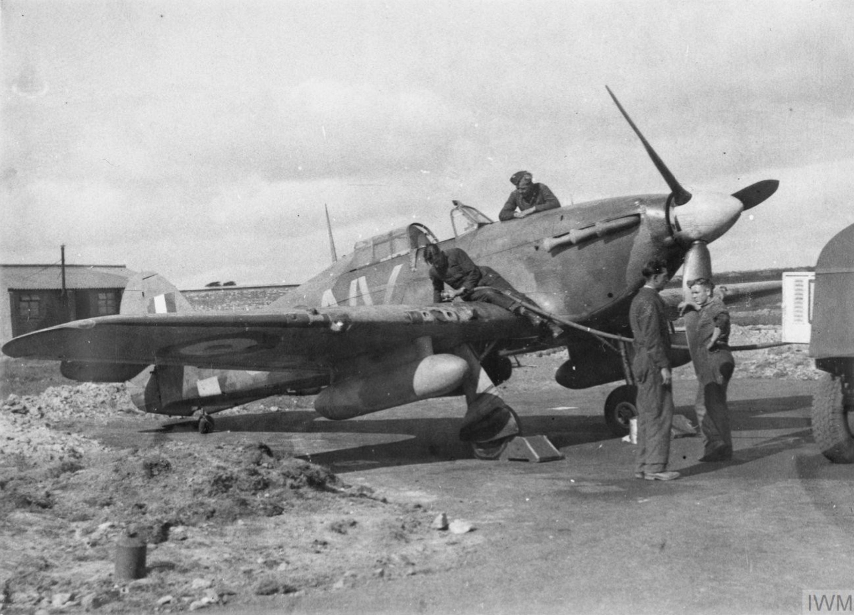 Hurricane IIb RAF 79Sqn ALV refuelling at Swansea 15 Sep 1941 IWM HU86315