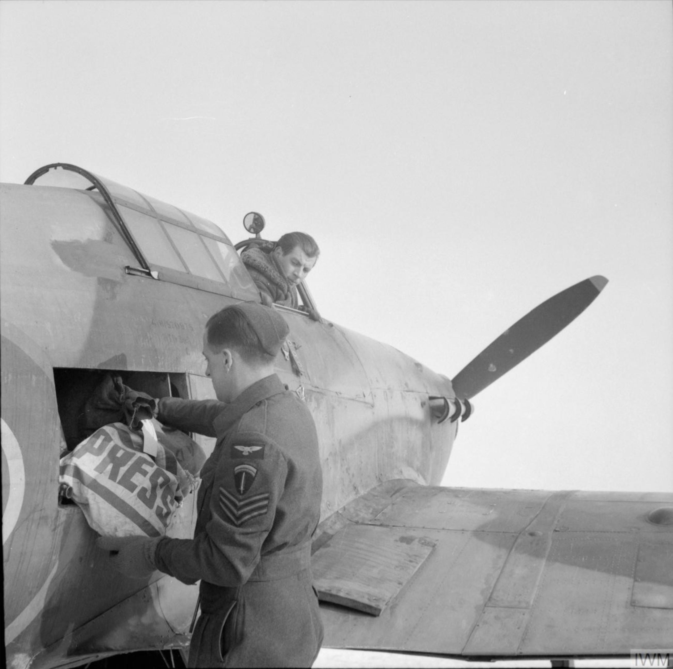 Hurricane IIc RAF 1697ADLS courier aircraft at Le Bourget France 1944 IWM BU1672