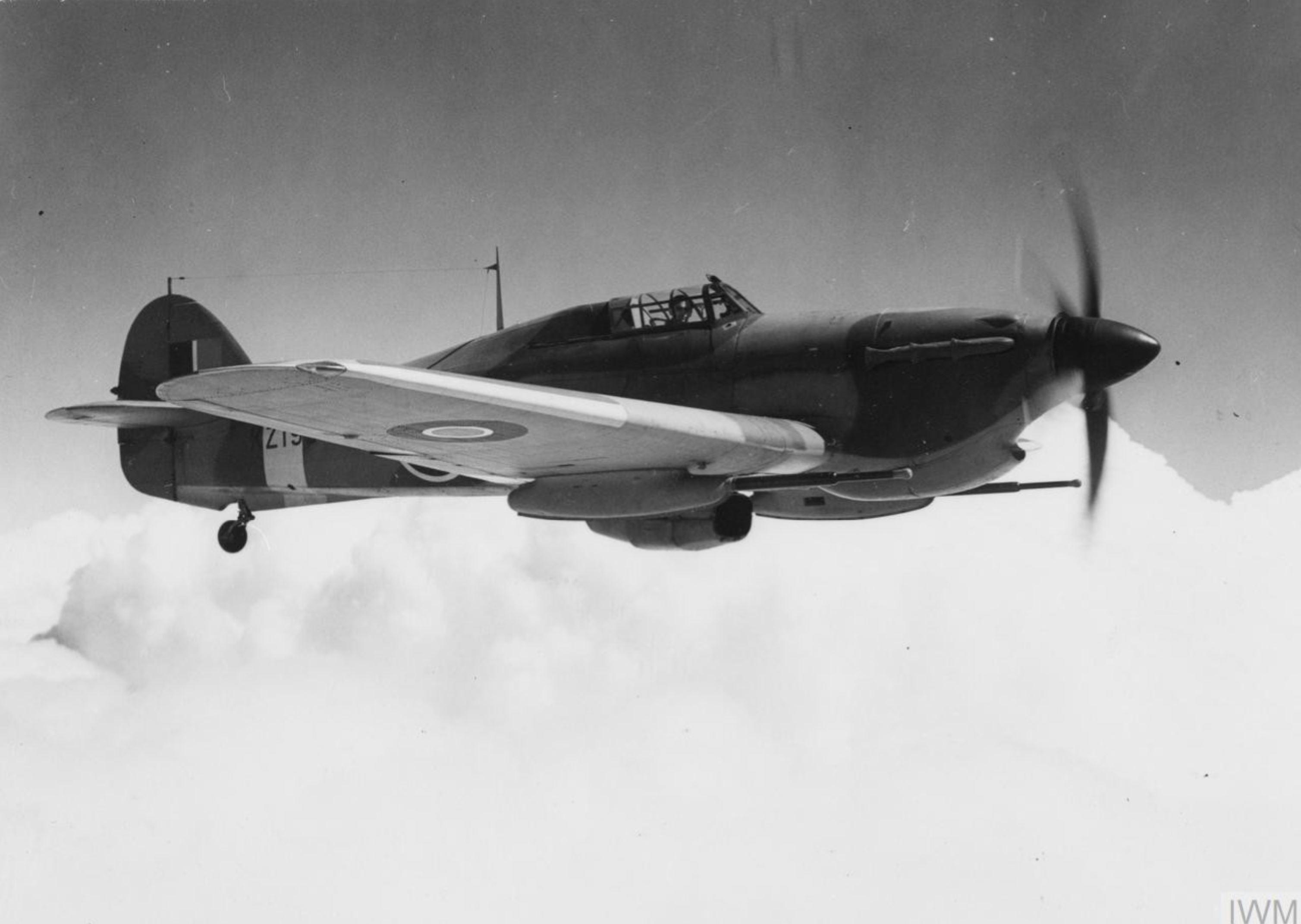 Hurricane V RAF KZ193 with two 40mm Vickers S guns Sep 1943 IWM HU64697