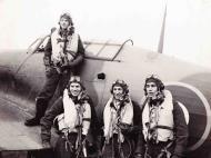 Asisbiz Aircrew RCAF 438Sqn L R PO Johnson, PO Reid, FO Dawber n FO McKenzie at RAF Ayr Scotland Jan 1944 01.jpg