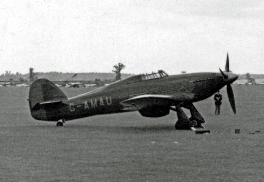 Hawker Hurricane II G AMAU Hawker Ac BAG 19th June 1954 01