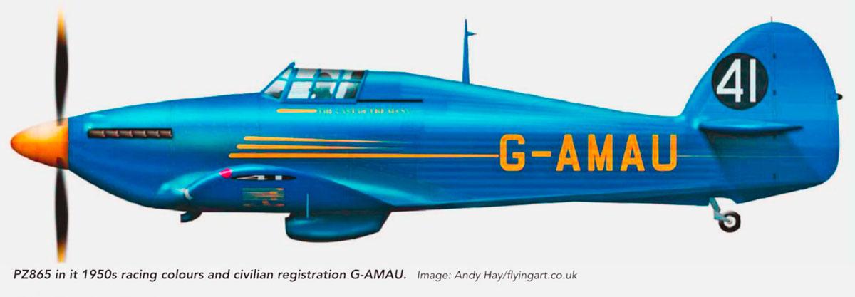 Hawker Hurricane II G AMAU Hawker Ac BAG 19th June 1954 0A