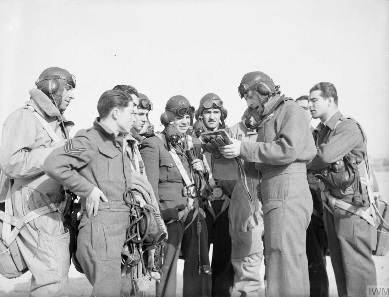 Aircrew RAF 335Sqn Major XF Varvaresos at Aqir Palestine IWM CM2213