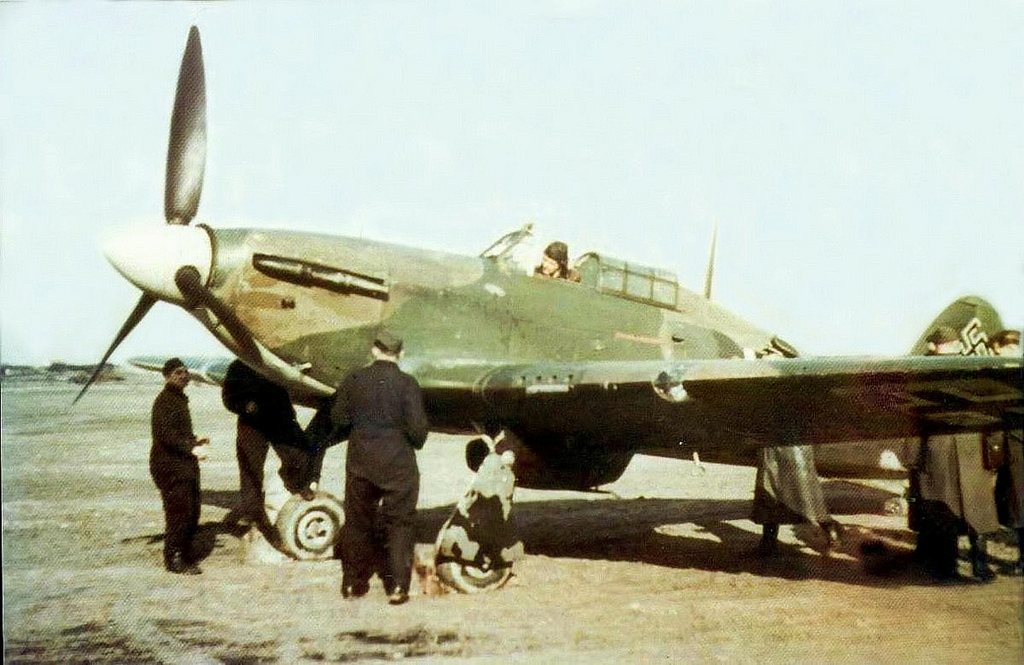 Captured Luftwaffe Hurricane II most likely North Africa 01