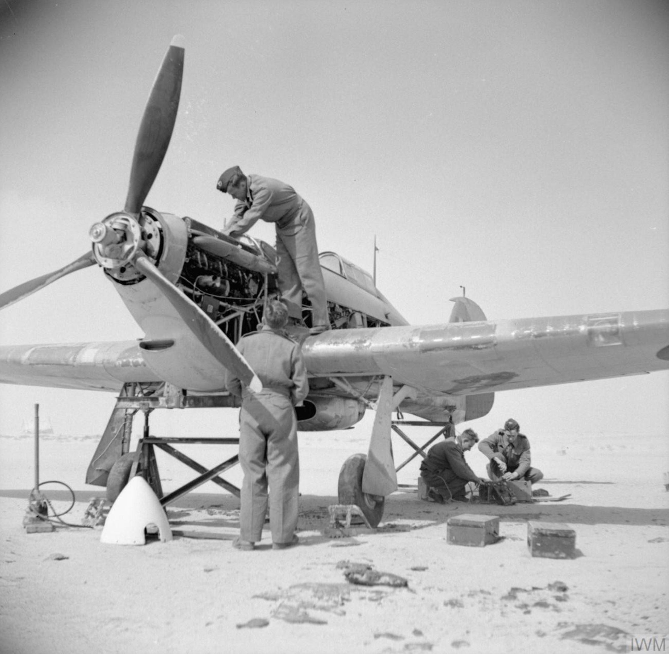 Hawker Hurricane I Trop RAF 237Sqn in Iran IWM E11720