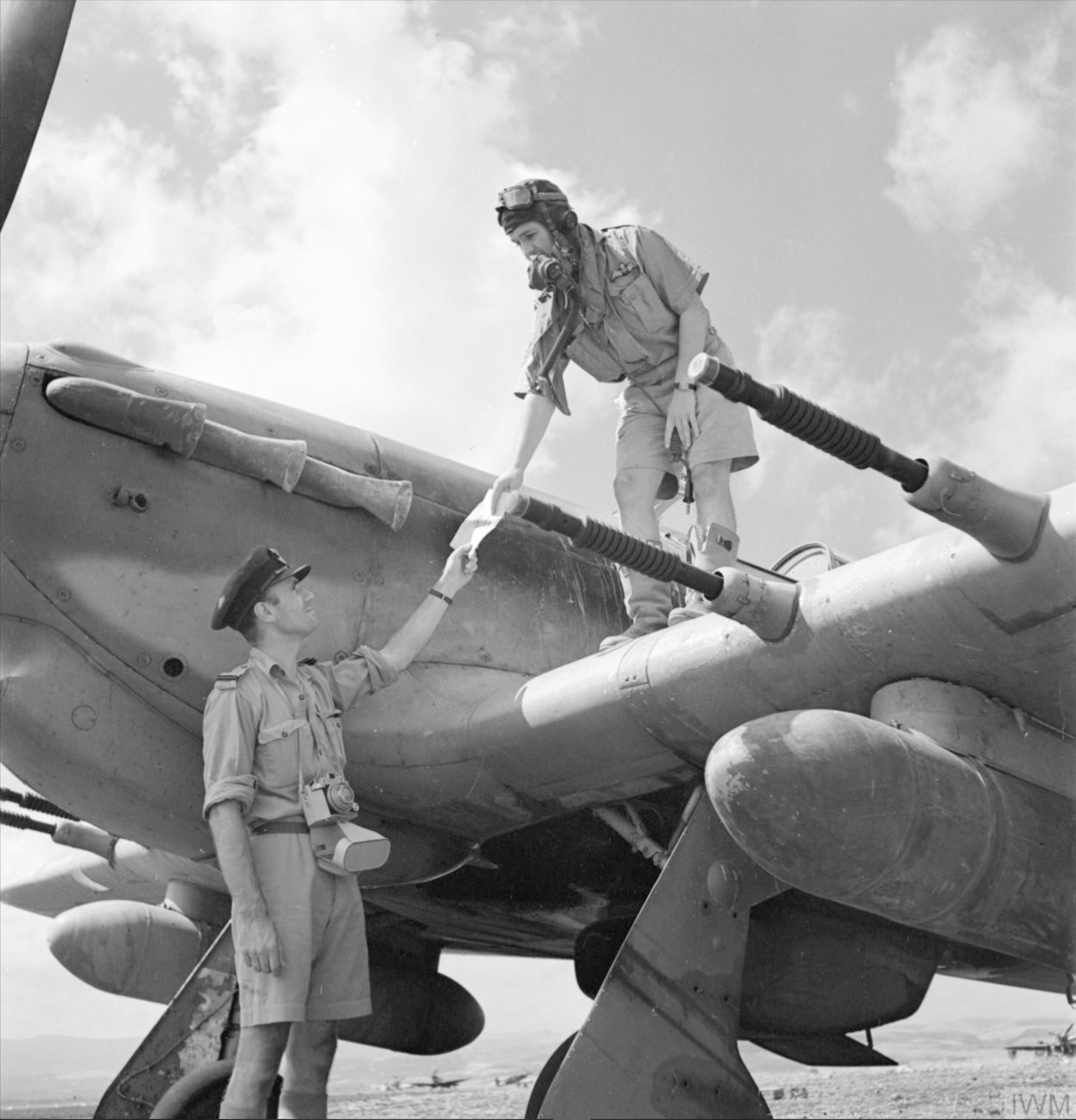 Hawker Hurricane II courier aircraft at Lentini Sicily 1943 IWM CNA1855