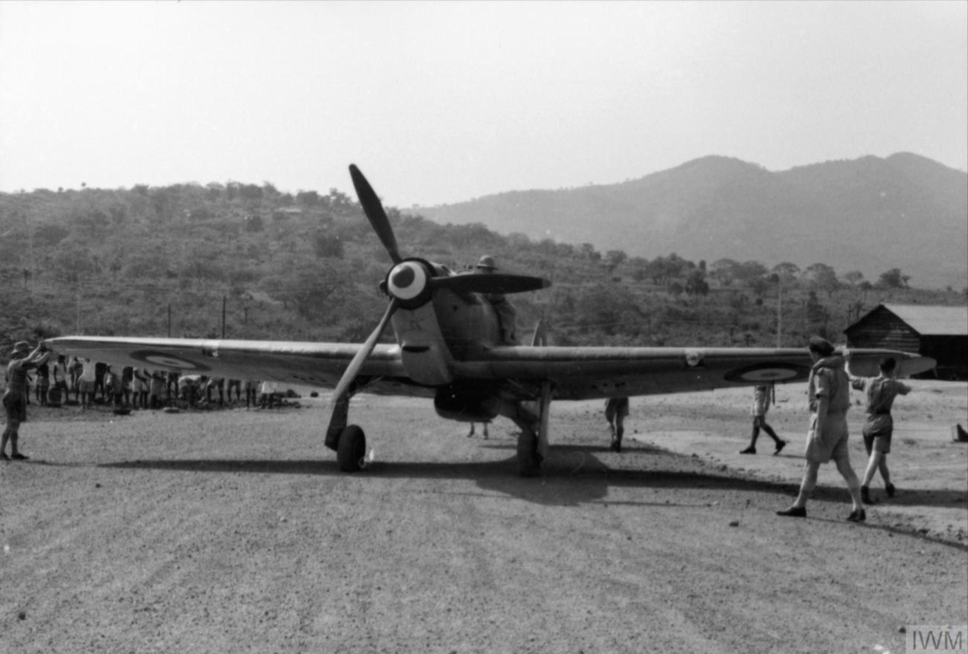 Hawker Hurricane IIb Trop RAF 128Sqn at Sierra Leone Oct 1941 IWM C1241