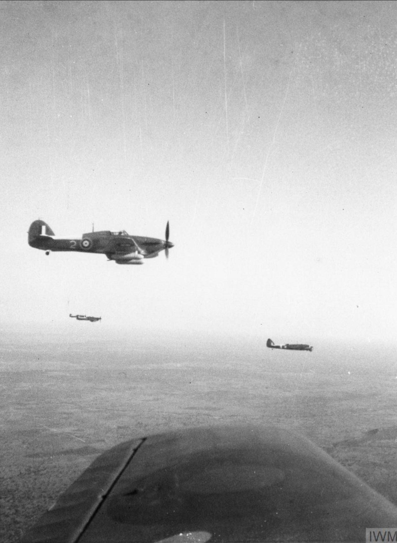 Hawker Hurricane IIs RAF ferry flight from West Africa to Egypt IWM MERAF3540