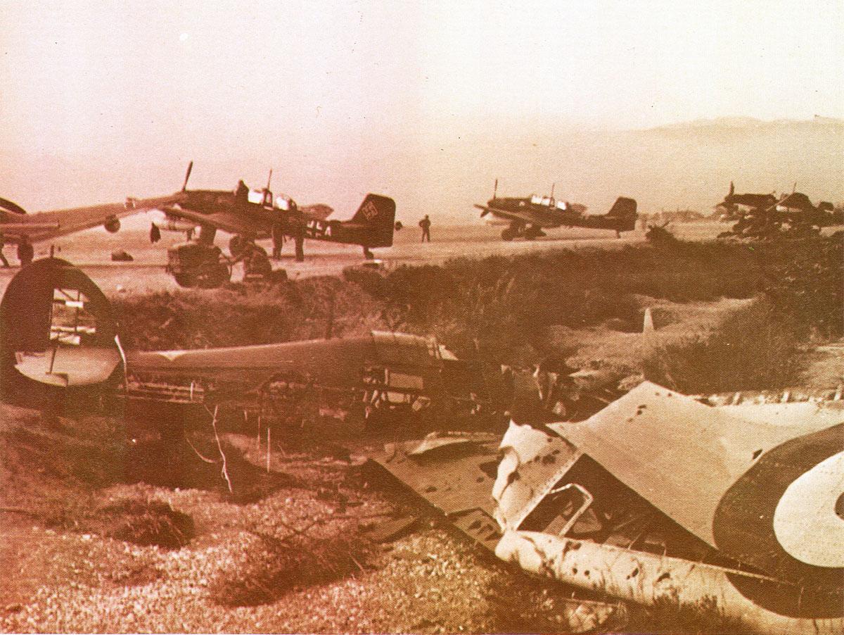 Hawker Hurricane RAF abandoned Balkans 1941 01