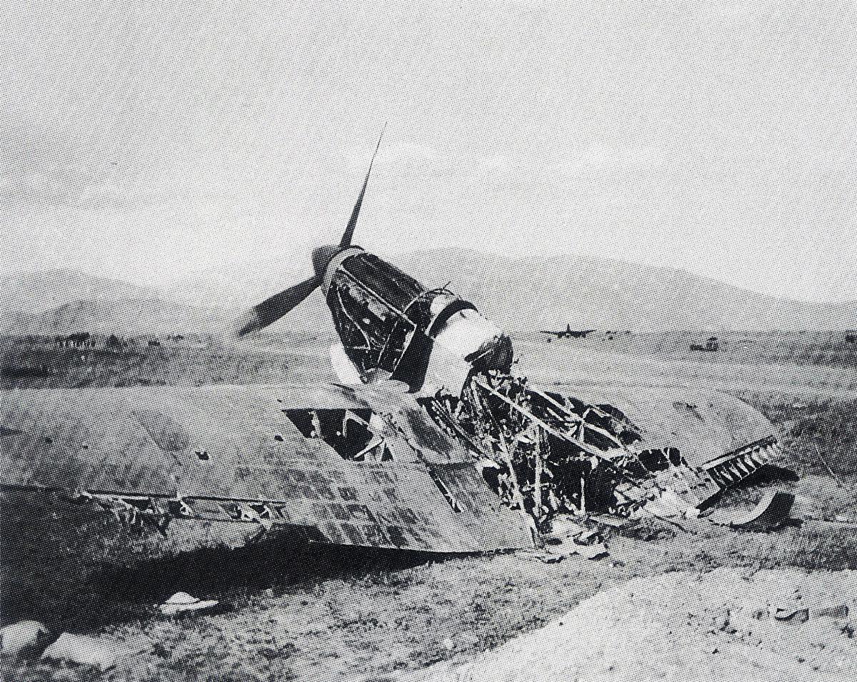 Hawker Hurricane RAF abandoned Greece 1941 02
