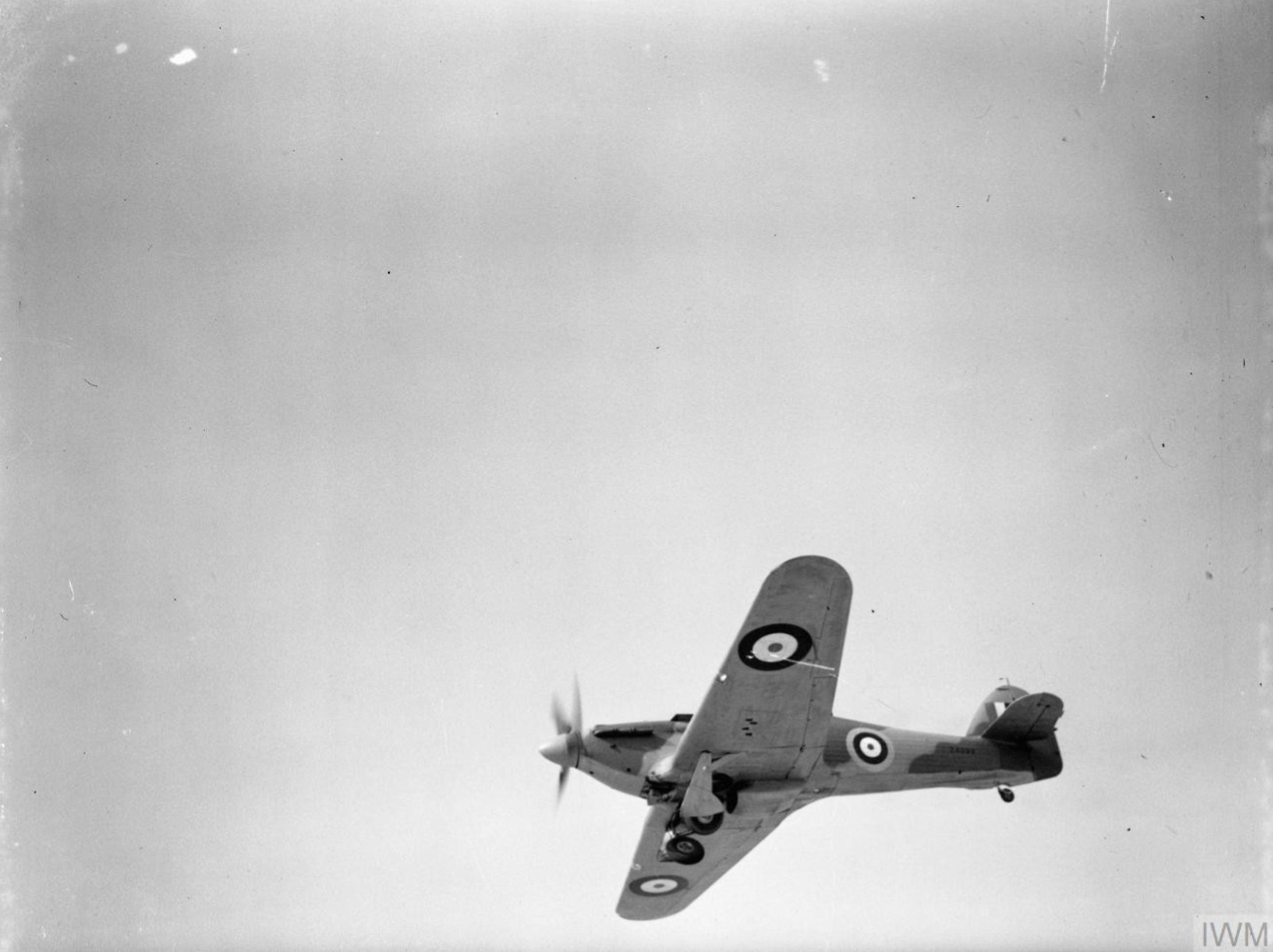 Hurricane I RAF 335Sqn Z4093 at Aqir Palestine IWM CM2215