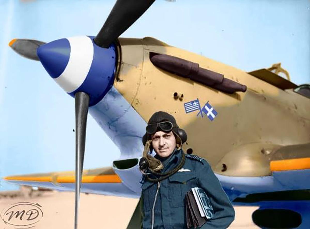 Hurricane I RAF 335Sqn at Aqir Palestine IWM CM2212a