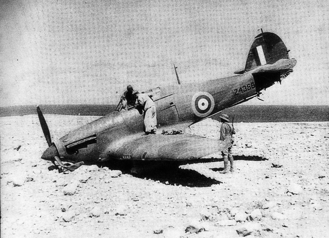 Hurricane I RAF Z4356 force landed North Africa 01