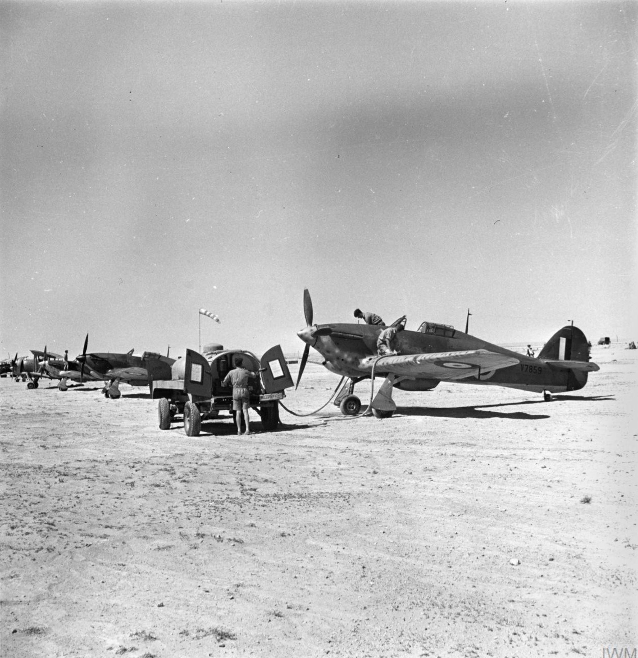 Hurricane I Trop RAF 73Sqn and 274Sqn V7859 1941 IWM1211