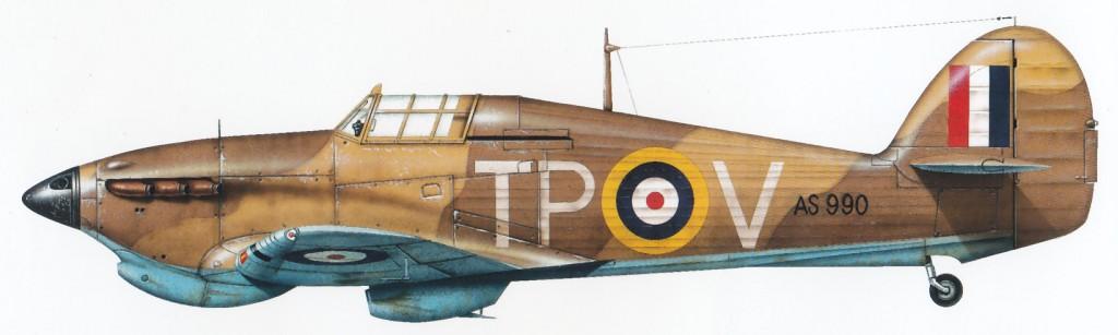 Hurricane I Trop RAF 74Sqn TPV AS990 Iraq 1942 43 0A