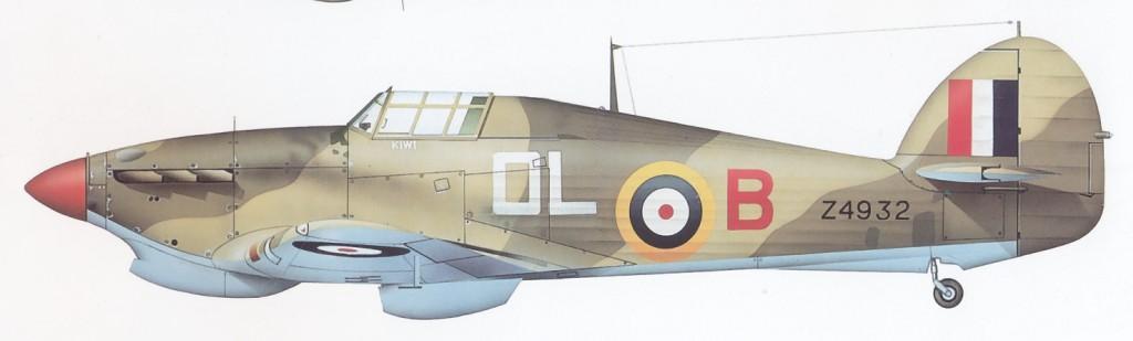 Hurricane I Trop RNFS Kiwi OLB Sub Lt M F Fell Z4932 Eygpt 1941 0A