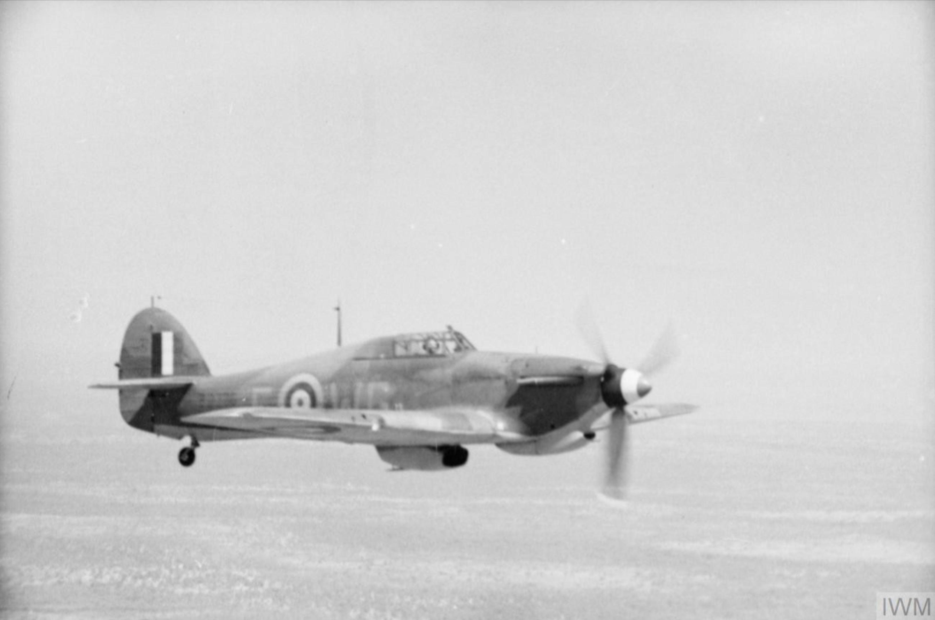 Hurricane IIB RAF 128SQn WGF SqnLdr JI Killy Kilmartin BD776 escort from Jeswang to Hastings Sierra Leone IWM CM2527a