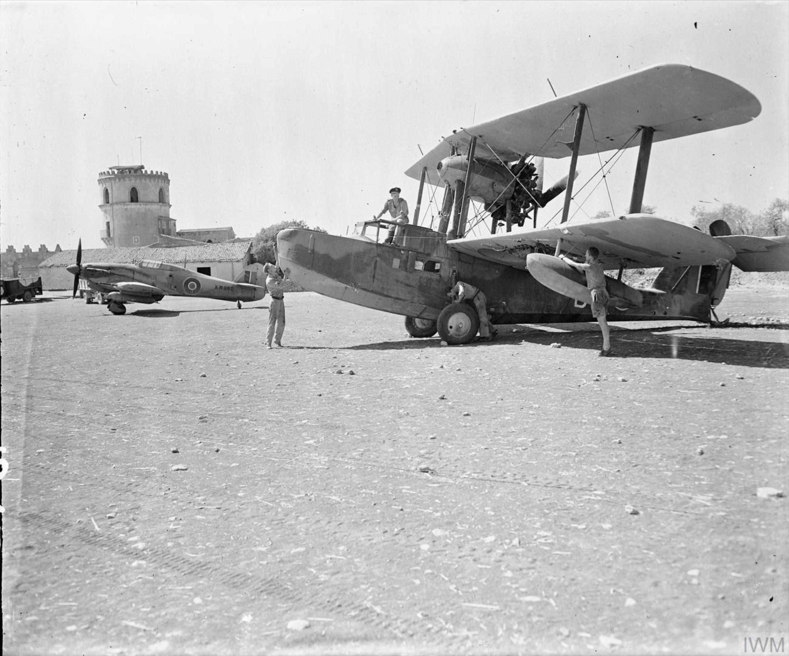 Hurricane IIC RAF KW980 at Cassibile Sicily IWM CNA1188