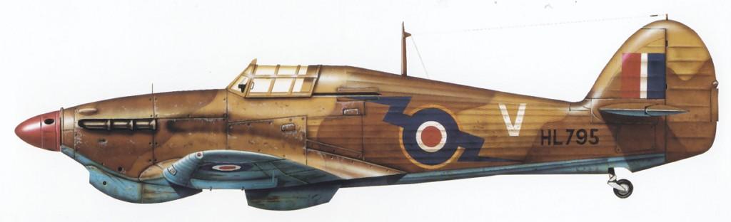 Hurricane IIb Trop RAF 274Sqn V HL795 North Africa 1942 0A