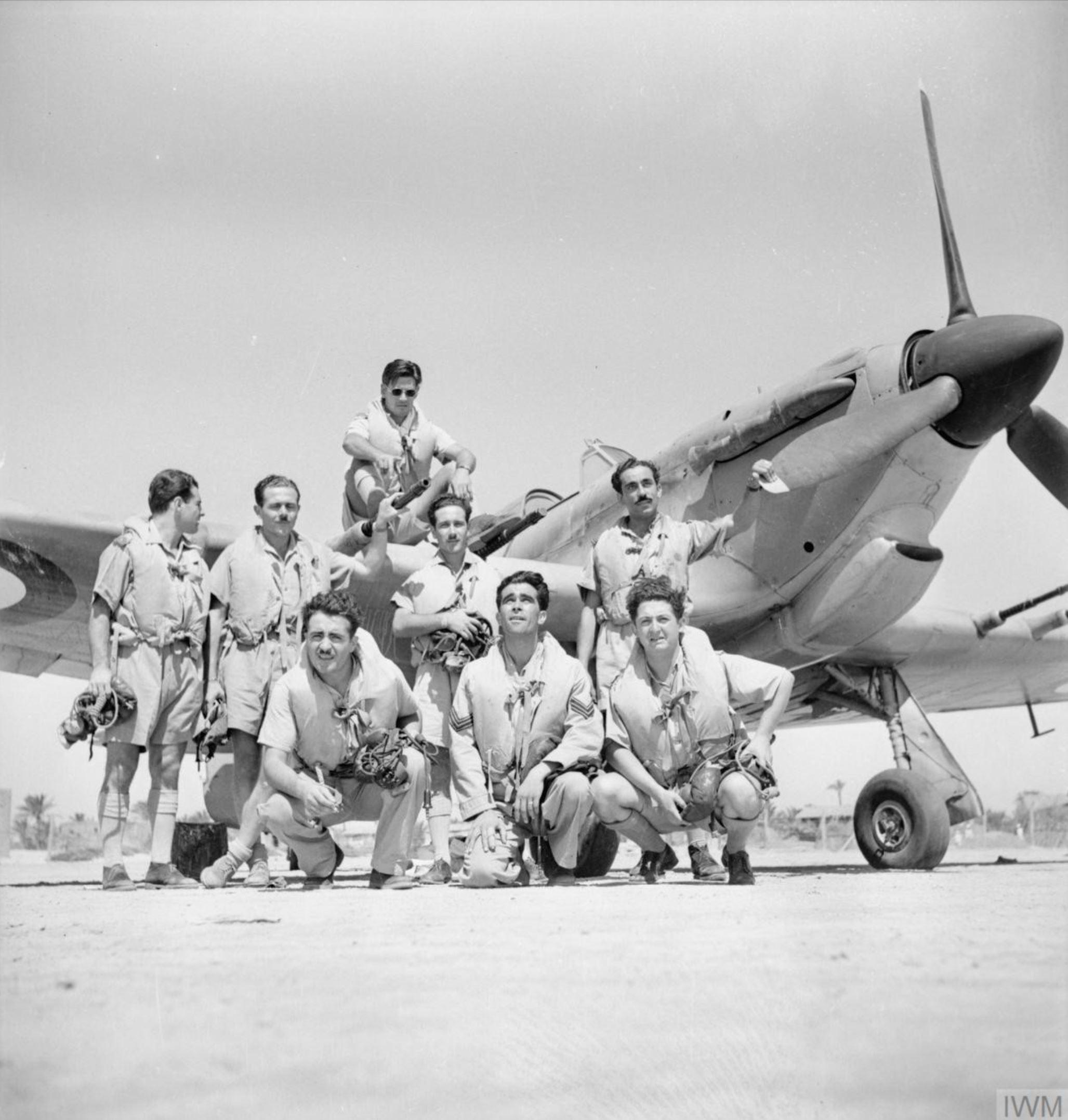 Hurricane IIc RAF 335Sqn at Dhekeila Egypt IWM CM3362