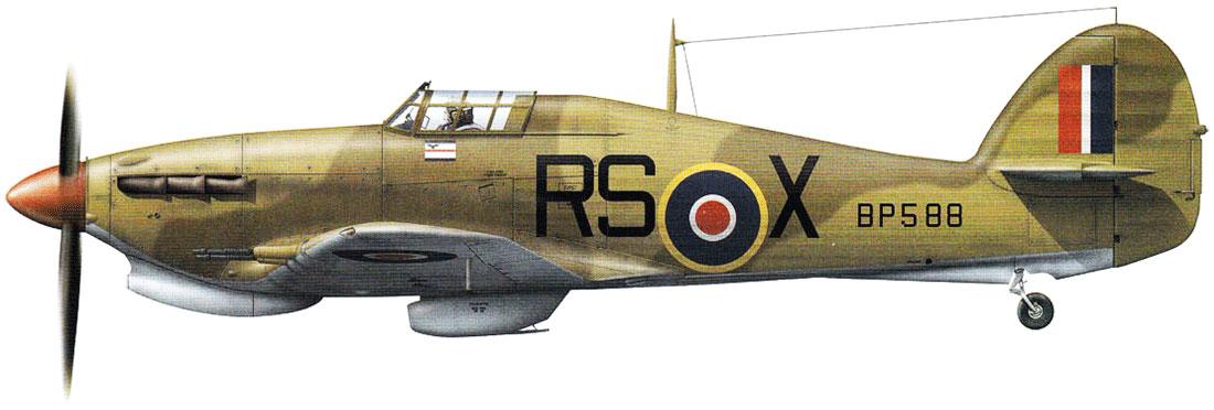 Hurricane IIc Trop RAF 30Sqn RSX Sqn Ldr SC Norris BP588 Benina Libya late 1942 0A