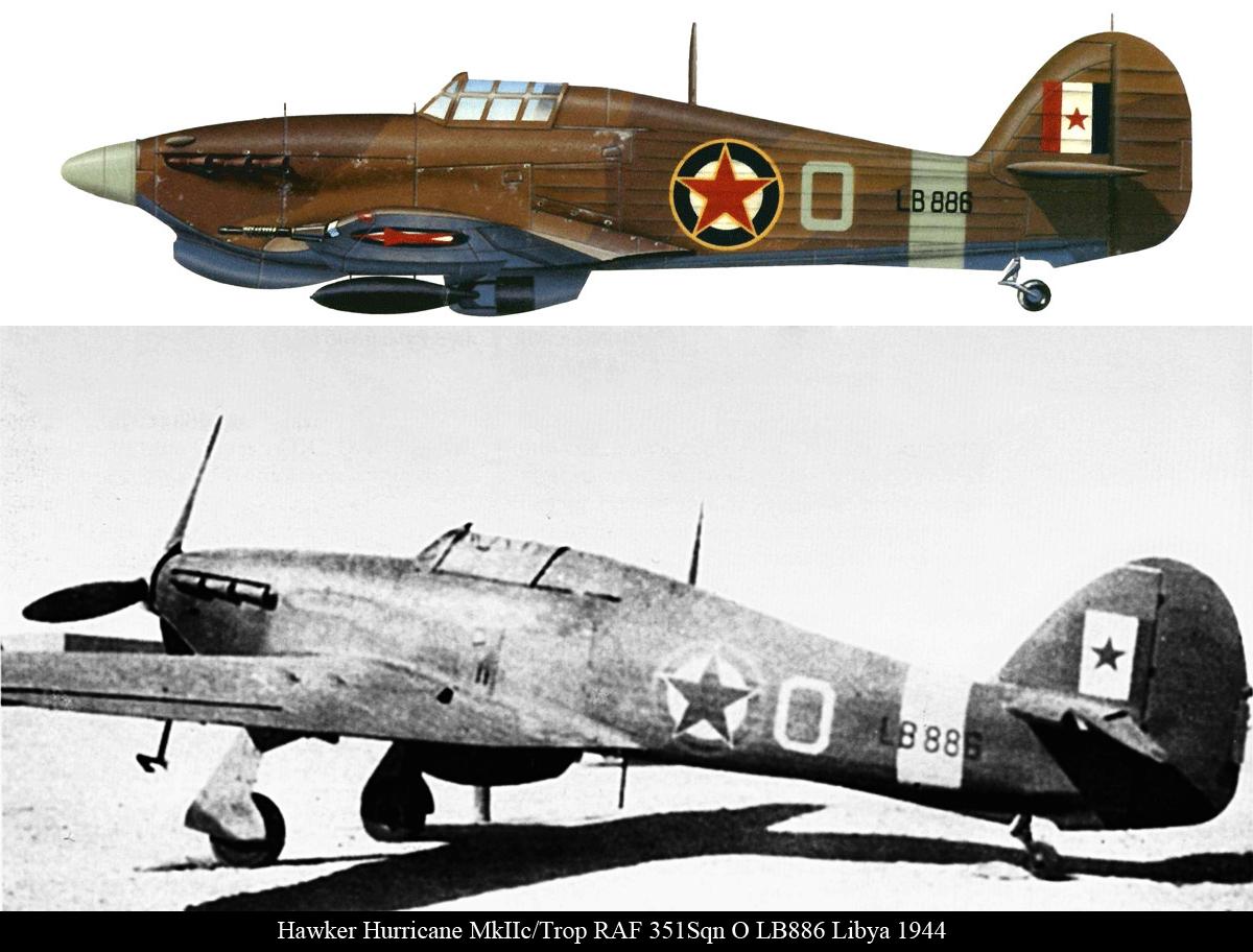 Hurricane IIc Trop RAF 351Sqn O LB886 Libya 1944 01