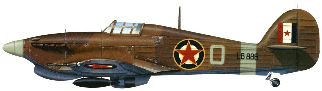 Hurricane IIc Trop RAF 351Sqn O LB886 Libya 1944 0A