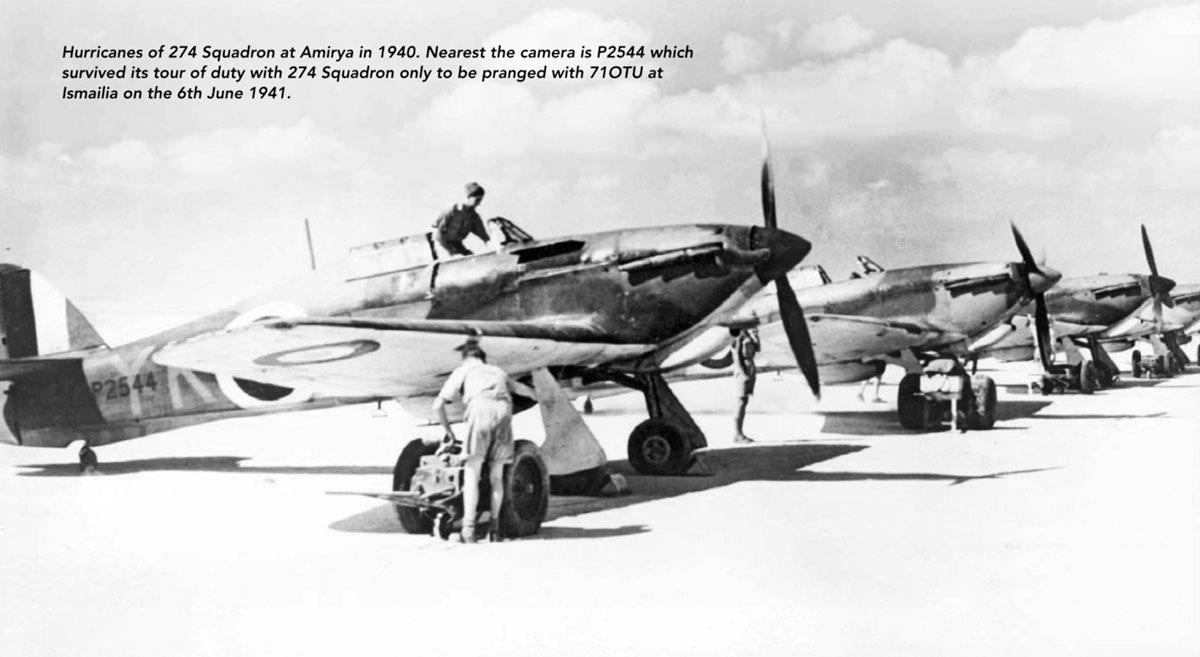 Hurricane Ia Trop RAF 274Sqn YK P2544 RAF El Amiriya Egypt 1940 01
