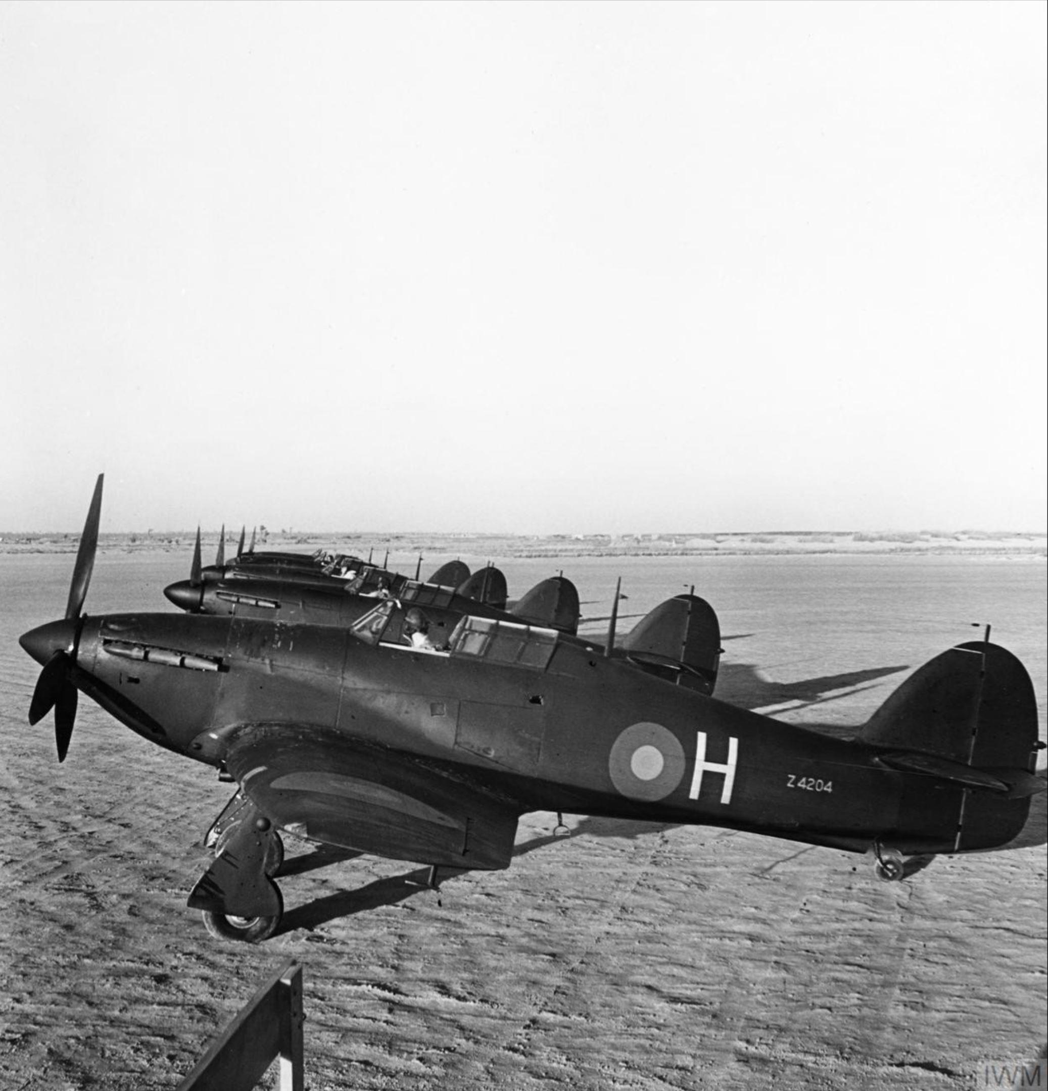 Nightfighter Hurricanes RAF 30Sqn H Z4204 based in Egypt flew night patrols over the Suez Canal IWM 01