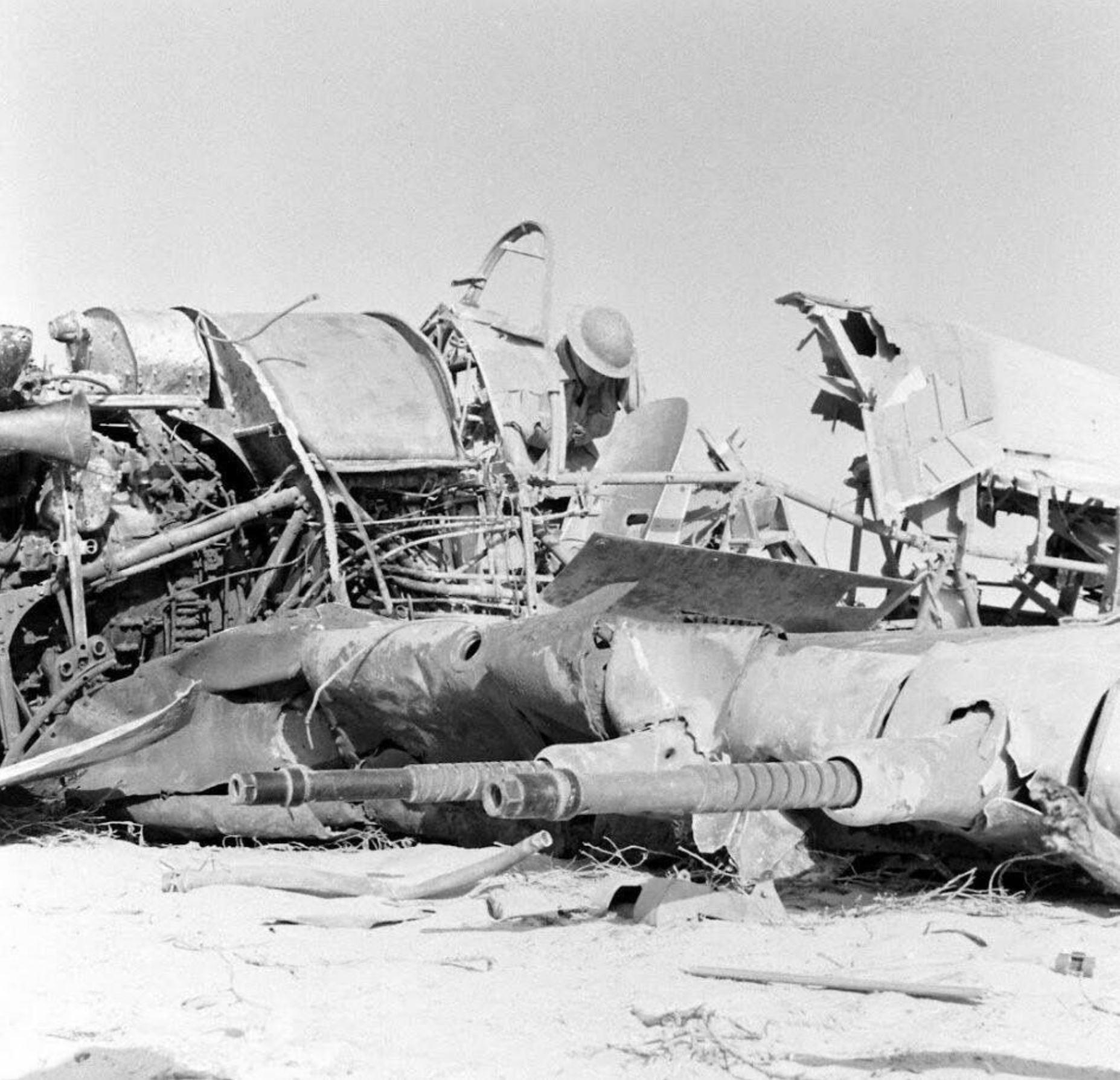 RAF Hurricane IIb shot down over the Egyptian desert 1942 ebay 01