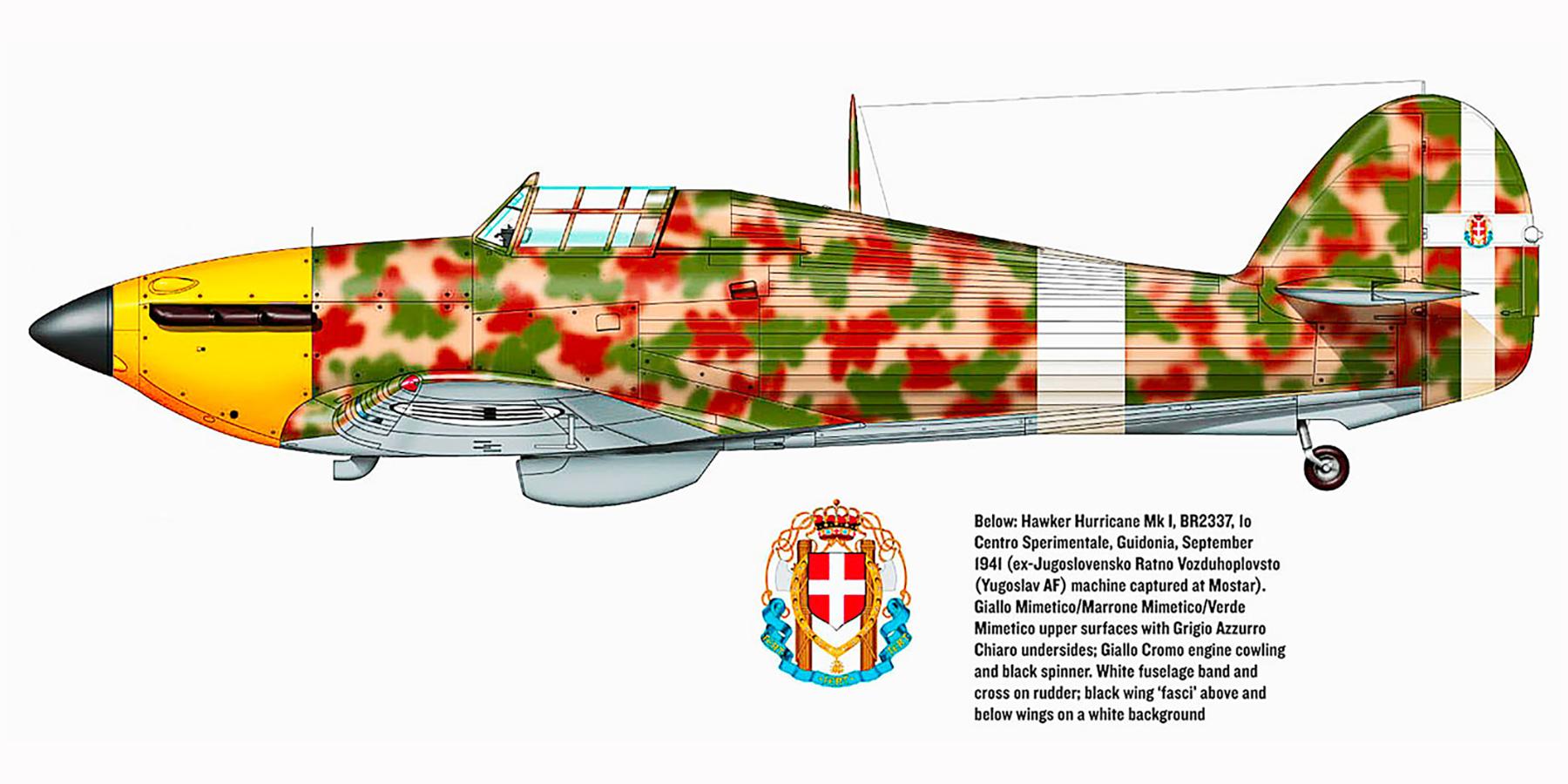 Captured RA Hurricane I BR2337 captured ex Yugoslav AF Monstar 1941 0A