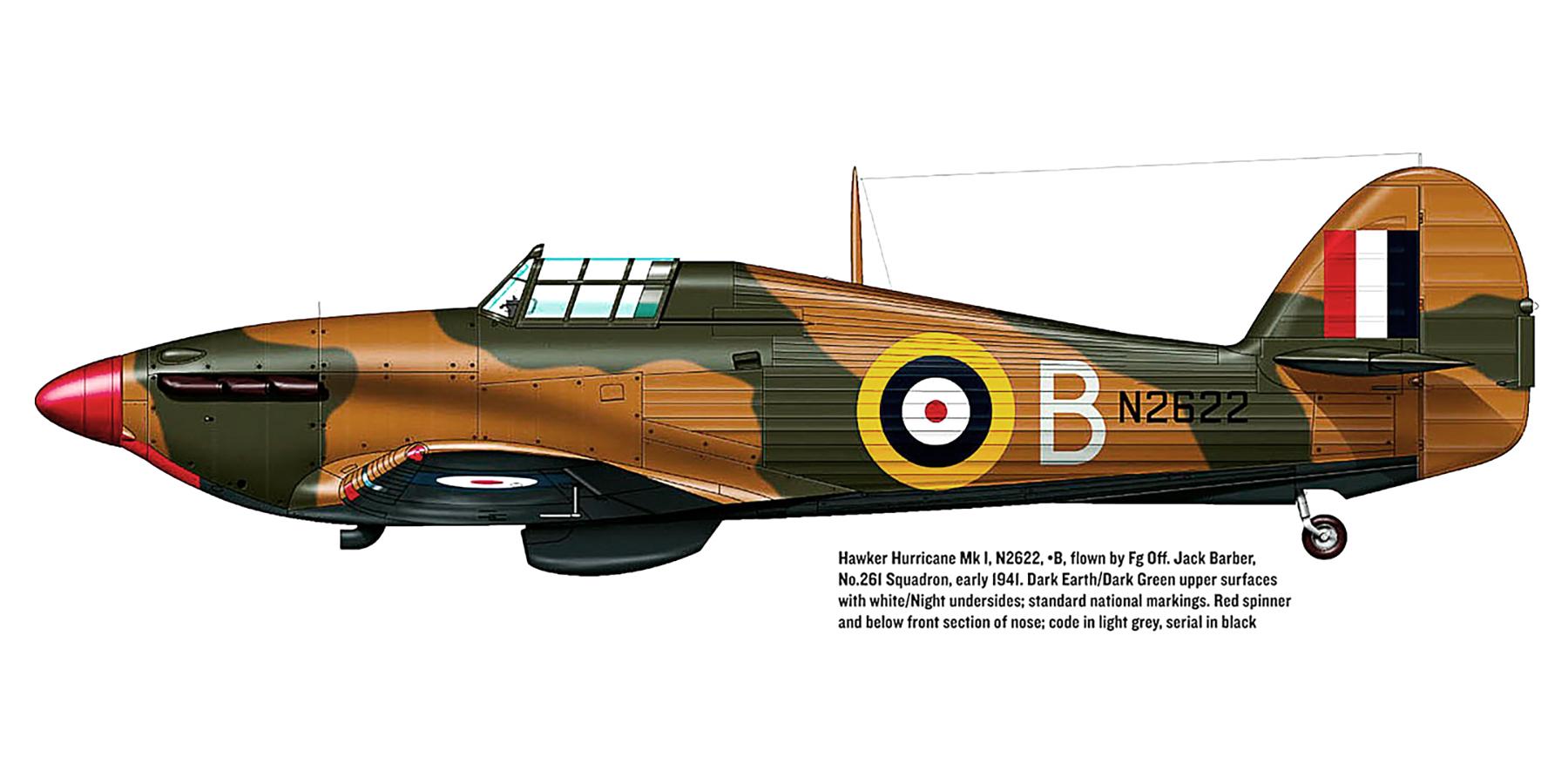 Hawker Hurricane I RAF 261Sqn B Jack Barber N2622 Malta 1941 0A