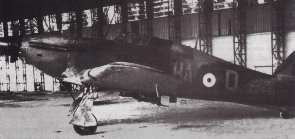 Hawker Hurricane IIa RAF 126Sqn HAD Z2491 Sgt WD Greenhalgh captured Comiso Italy 01