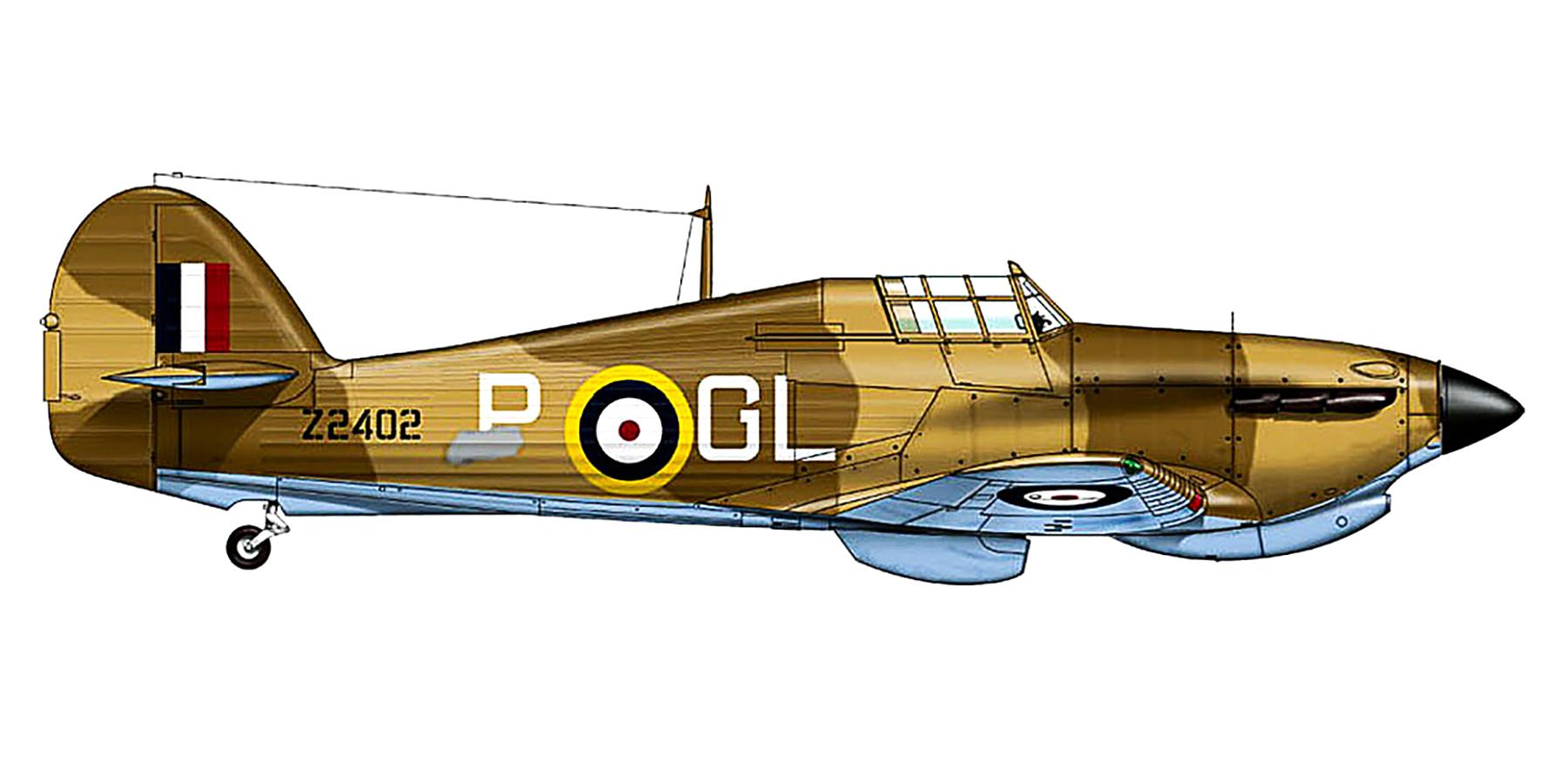 Hawker Hurricane IIb RAF 185Sqn GLP Marcus W Kidson Z2402 Hal Far Malta 1942 0A