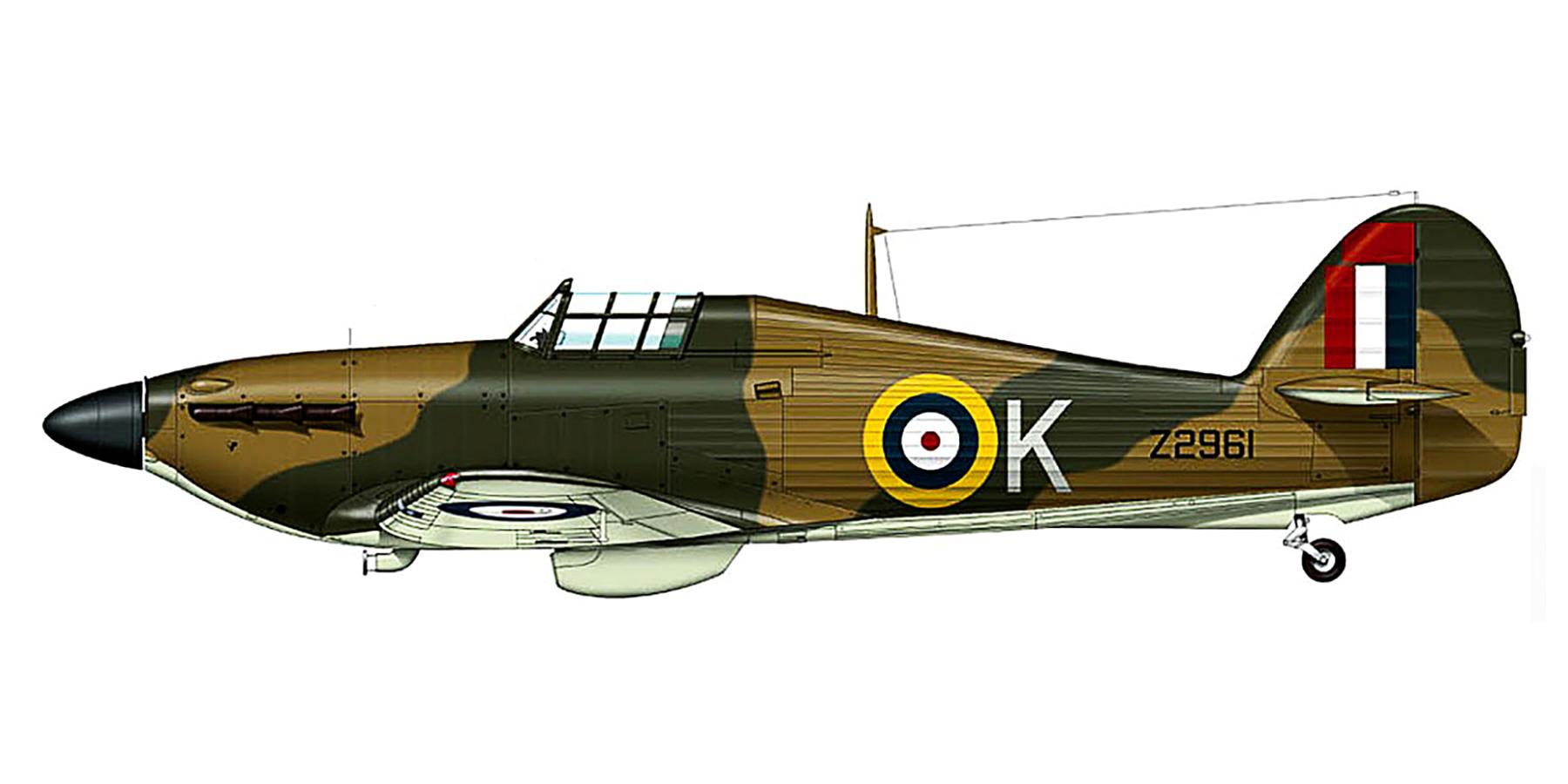 Hawker Hurricane IIb RAF 185Sqn K Sqt GE Horicks Z2961 Ta Qali Malta Mar 1942 0A