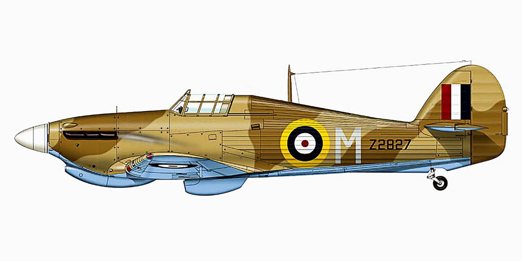 Hawker Hurricane IIb Trop RAF Night Fighter Unit M Z2827 Malta Jan 1942 0A