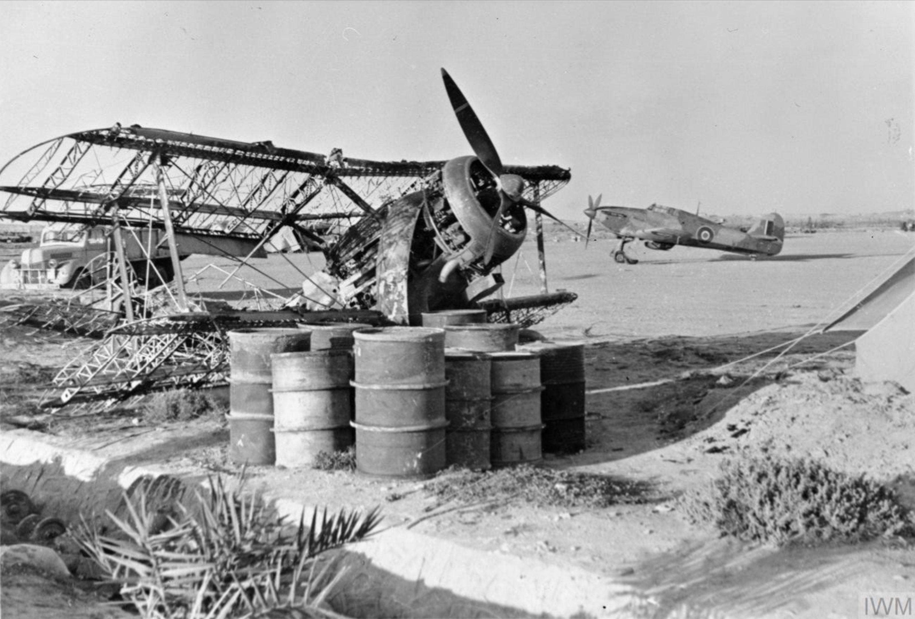 Hurricane I RAF 261Sqn W9133 at Ta Kali Malta 1941 IWM C2025