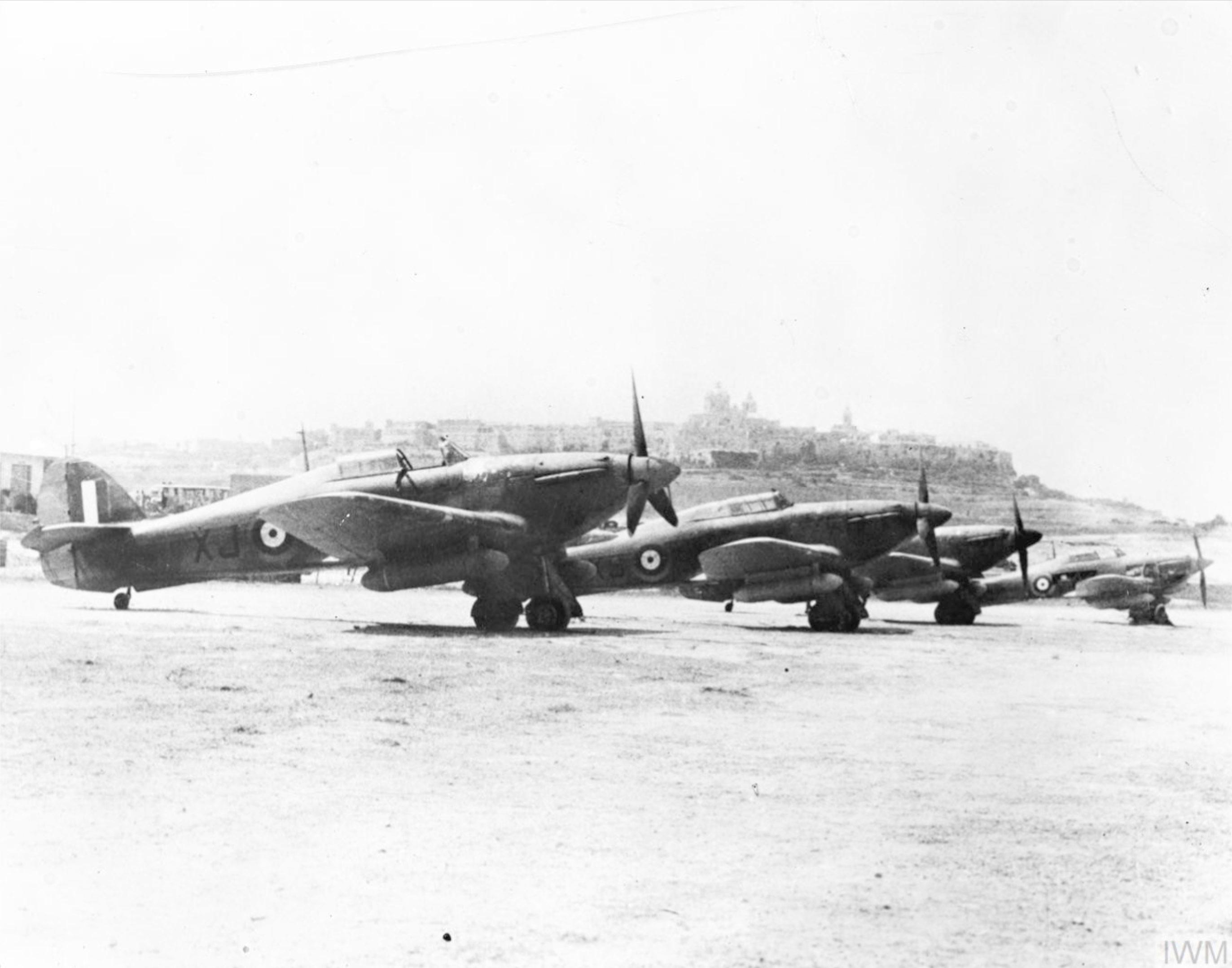 Hurricane I RAF 261Sqn XJ at Luqa Malta 1941 IWM CM2270