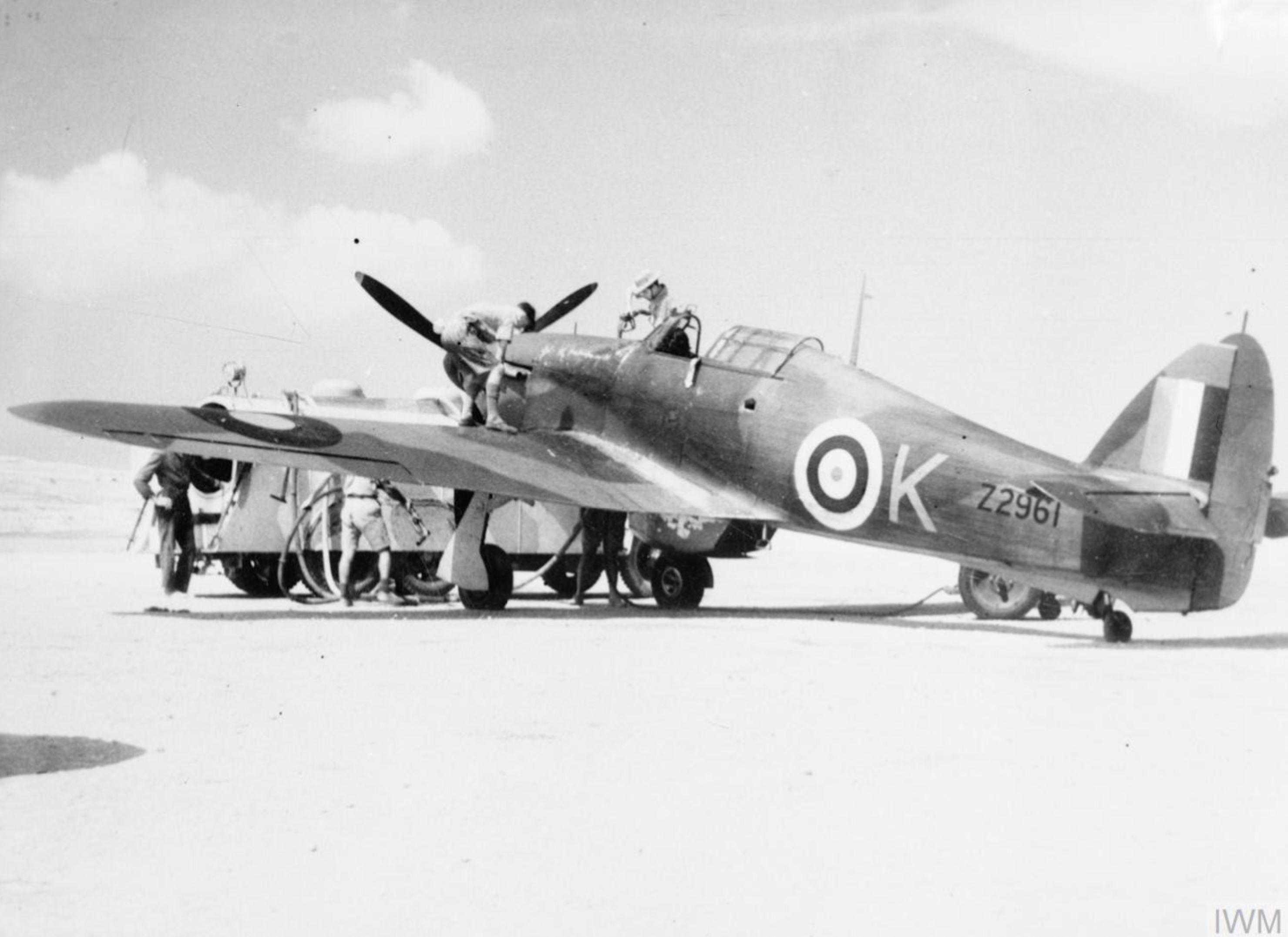 Hurricane IIb RAF 185Sqn K Sqt GE Horicks Z2961 Ta Qali Malta Mar 1942 IWM CM1293