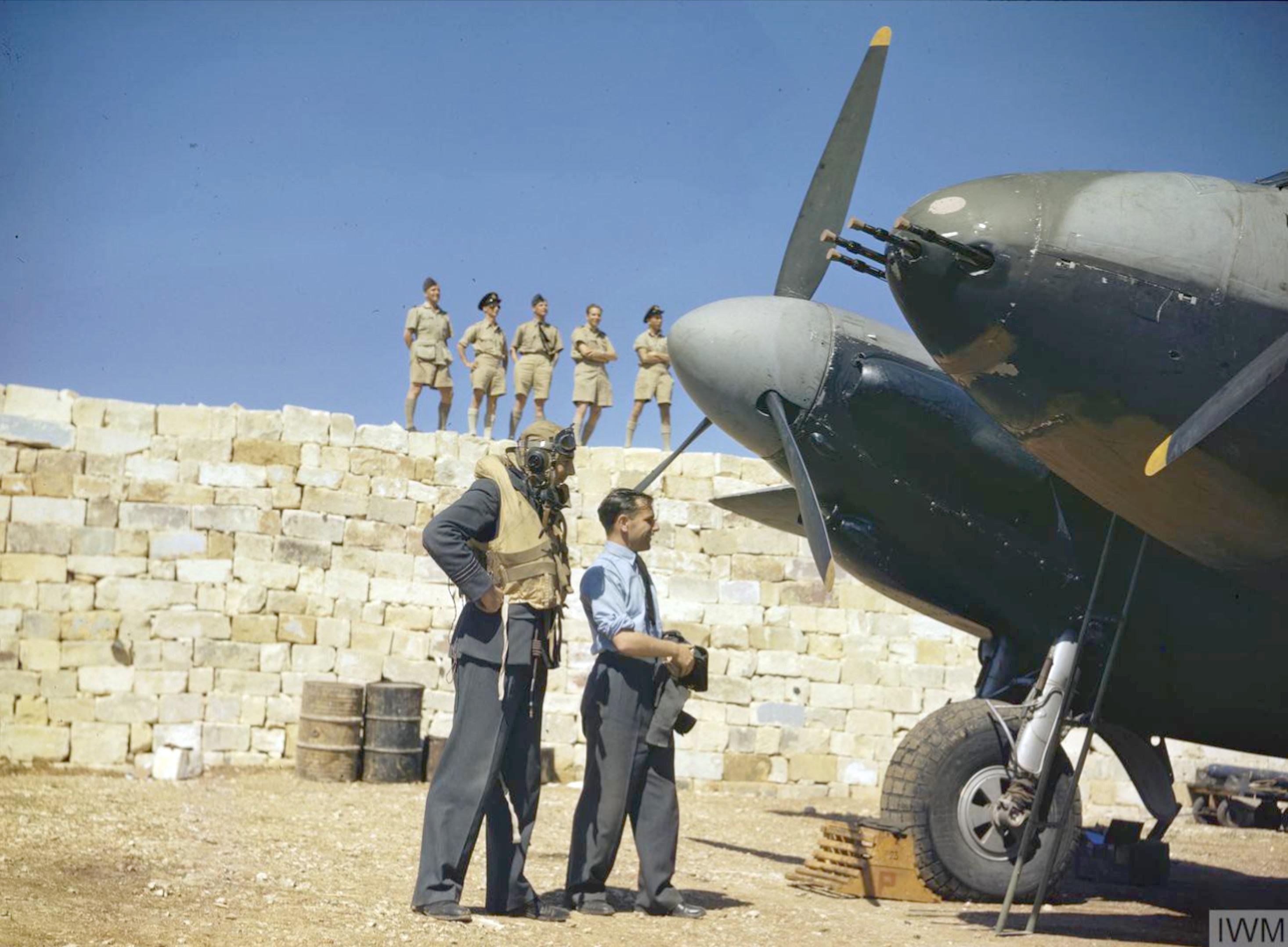 Mosquito II RAF 23Sqn YPP at the dispersal point Malta 27 Jun 1943 IWM TR1081