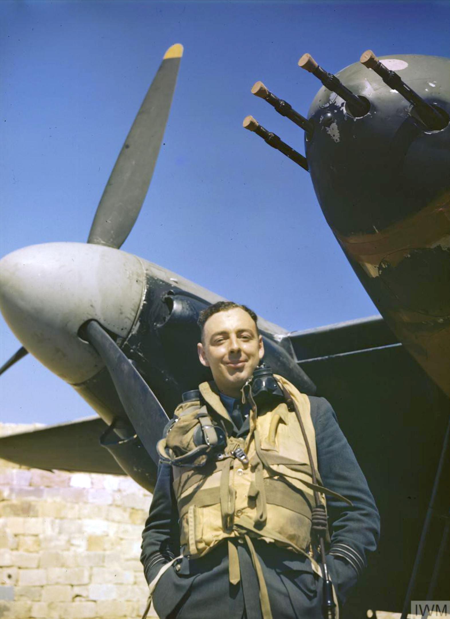 Mosquito II RAF 23Sqn YPP with Wing Commander John B Selby Malta 27 Jun 1943 IWM TR1077