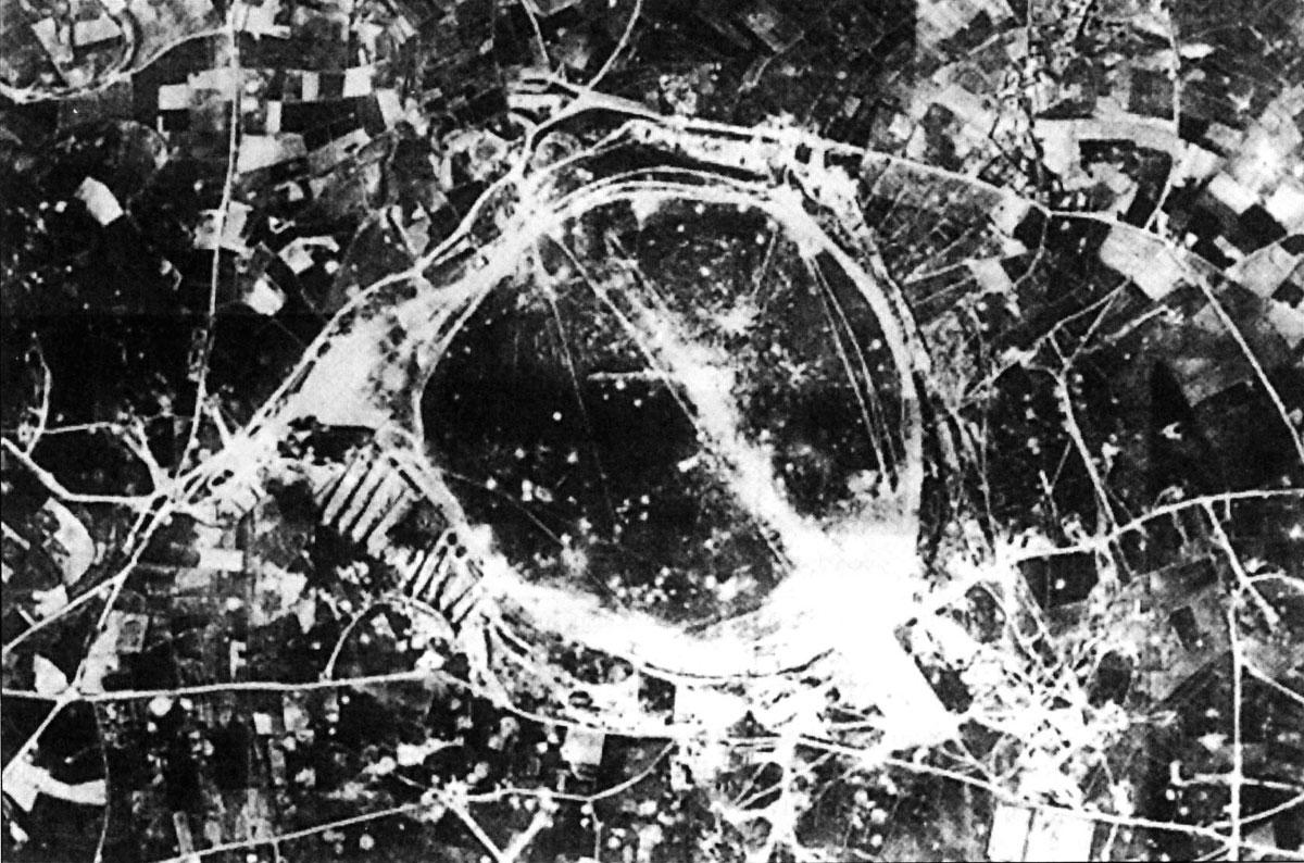 RAF airbase Takali airfield after an axis air raid Malta 01